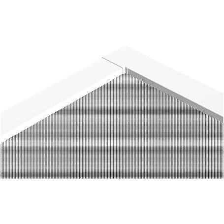 Teleskop-Fensterbausatz FAST 120 x 140 cm braun
