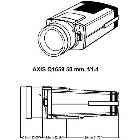 AXIS Q1659 IP-Kamera 2160p T/N 50 mm PoE