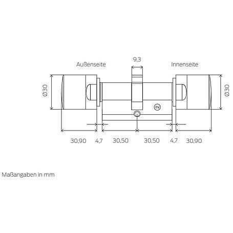 SimonsVoss Zylinder MobileKey Tastensteuerung