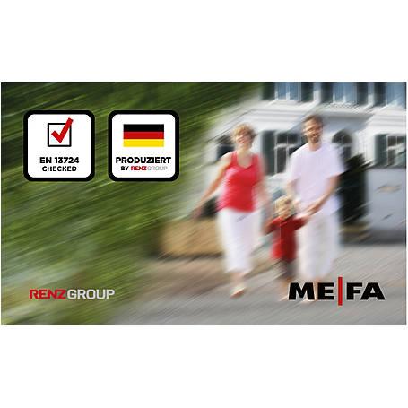 Mefa Briefkasten Pearl (872) Tiefschwarz Edelstahl