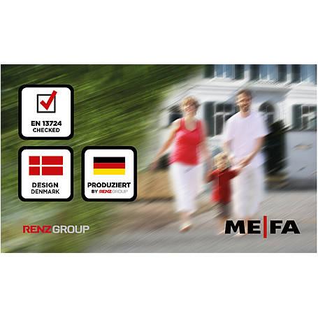 Mefa Briefkasten Vals (101) Tiefschwarz
