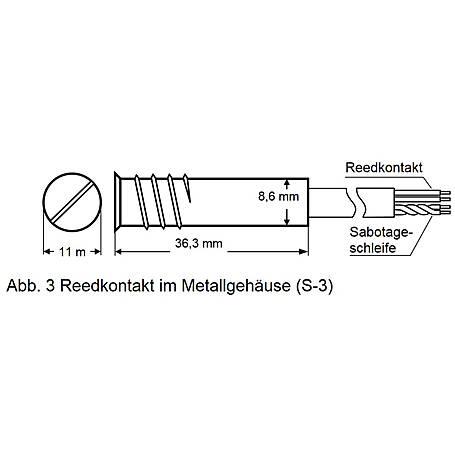 Satel S-3 Einbau Magnetkontakt + Sabo Alu-Gehäuse
