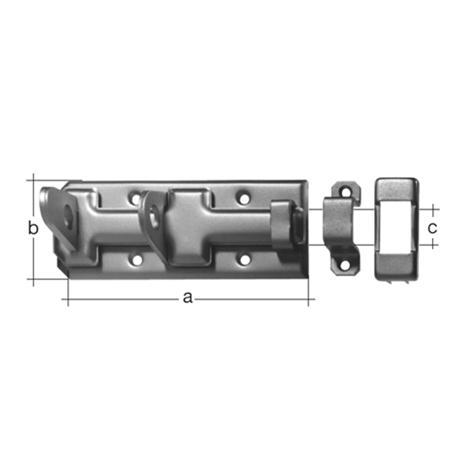 Sicherheits-Schlossriegel gelbvz m. Schlaufe 140mm