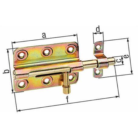 Bolzenriegel gbvz m. Schlaufe 80/125mm