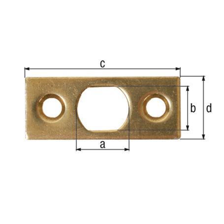 Schließblech für Riegel gbvz 13x11