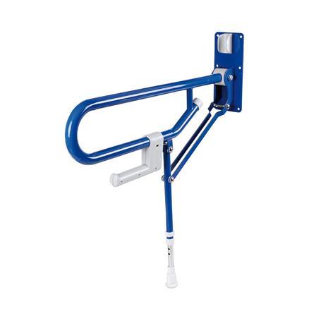Bad Stützklappgriff m. Bodenstütze blau 765mm