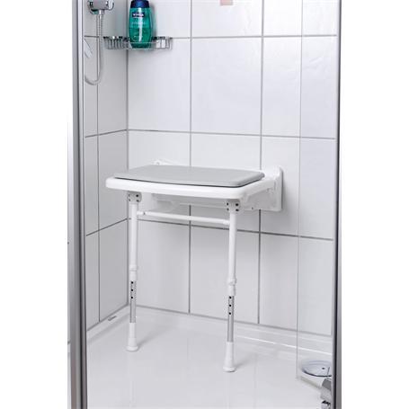 Dusch Polstersitz grau Sitzfläche 380x370mm