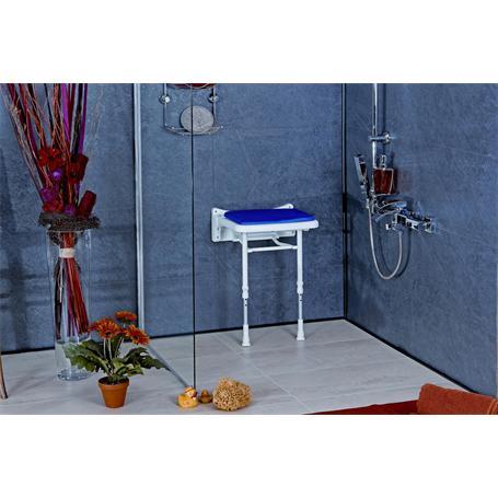 Dusch Polstersitz blau Sitzfläche 380x370mm
