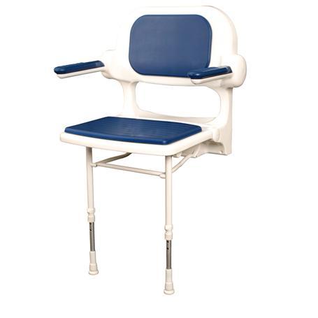 Dusch Polstersitz m. Lehne blau Sitzfl.460x390mm