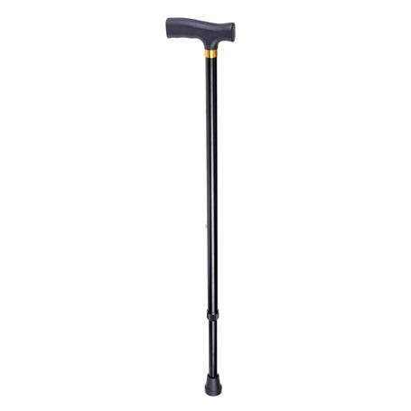 Spazierstock schwarz verstellbar 650-950mm Länge