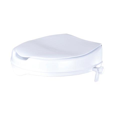 Toilettensitzerhöhung mit Deckel weiß 370x400mm