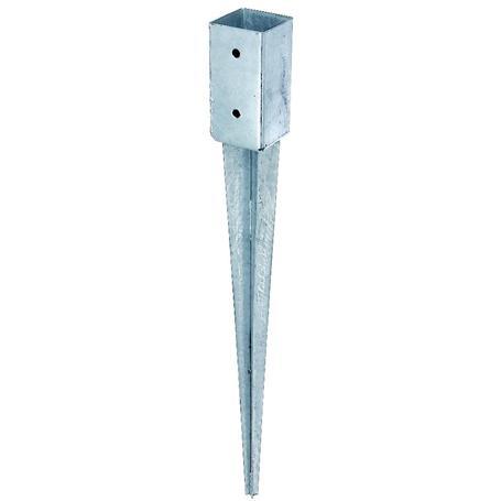 Einschlag-Bodenhülse Vierkantholzpfosten 71x71/750