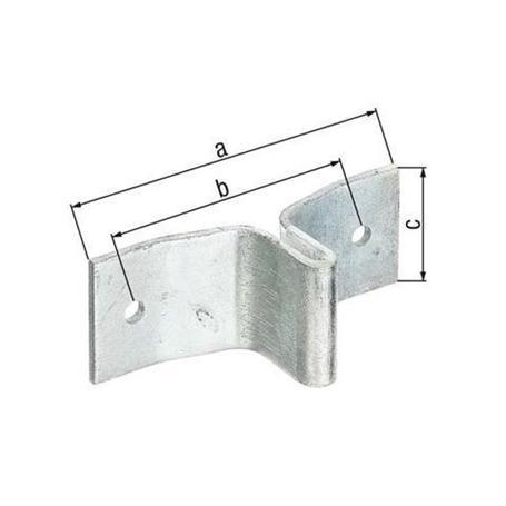 Lasche für Zaunpfosten aus T-Profil fvz, 148x40mm