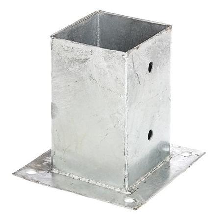 Aufschraubhülse für Vierkantholzpfosten 91x91/150