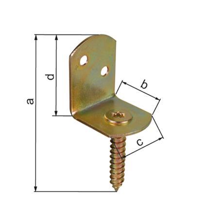 Flechtzaunhalter L-Form gbvz. 83x32 24Stück