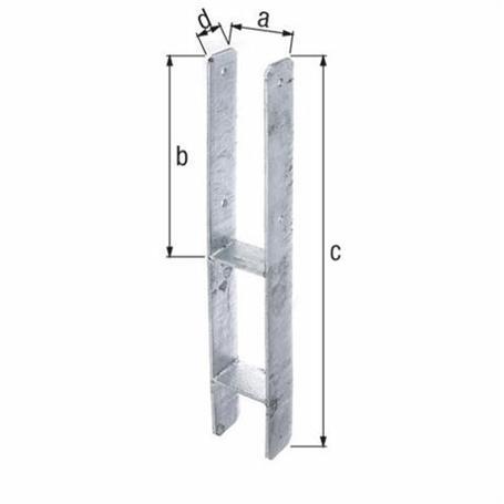 H-Pfostenträger fvz z. Einbetonieren 91x600/5mm