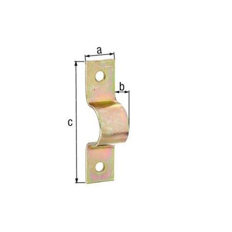 GAH Rohrschelle,gelb vz, f. Ø57 u. Ø2 1/4Zoll Rohr