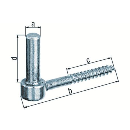 Kloben z.Einschrauben,gbvz, Ø10/115mm