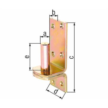 Kloben auf Platte,DI,fvz,zA, Ø16/115x40mm