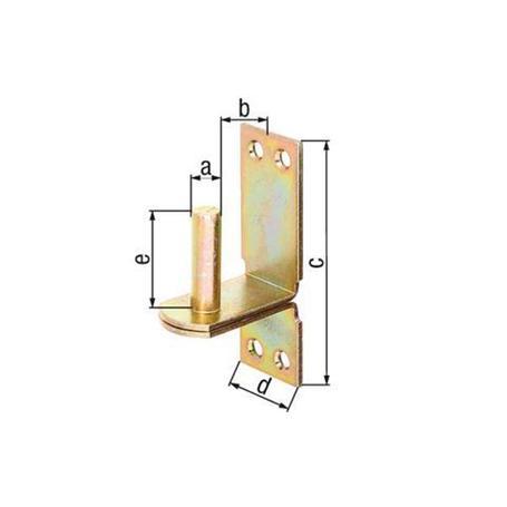 Kloben auf Platte,DII,gbvz,zA, Ø10/190x30mm
