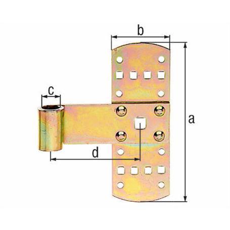 Kreuzband,gbvz, 160x50, Ø13 mm