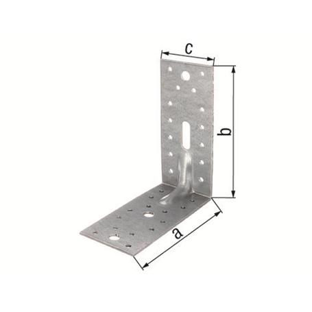 Schwerlast-Winkelverbinder m.Sicke vz 150x150x65mm