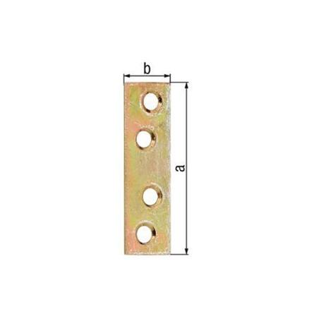 Flachverbinder gelbvz 50x14mm 12Stück