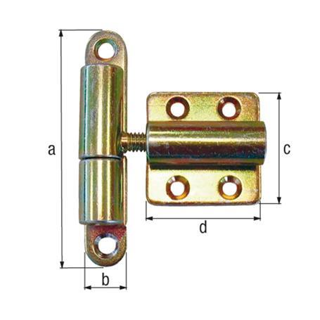 Aushebescharnier gbvz verstellbar 83x15mm