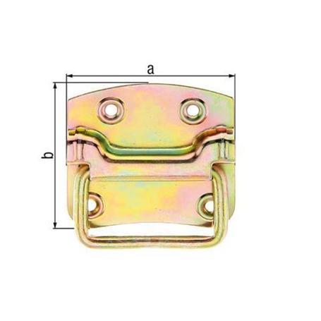 Kistengriff gelbvz 104x80x12mm