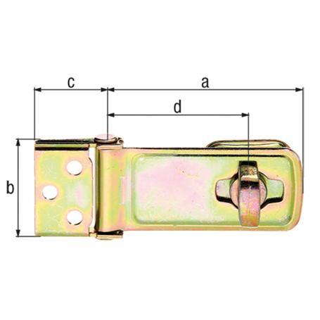 Sicherheits-Überfalle gelbvz 85mm Öse drehbar