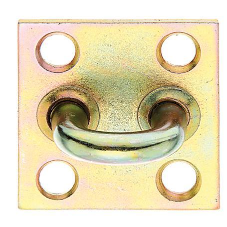 Überfallen-Öse auf Platte gelbvz 50x50mm