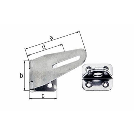 Edelstahl Sicherheits-Überfalle VA 83mm
