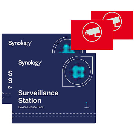 Synology 2x Device License +2x Videoaufkleber