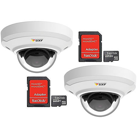 Ip-Kamera Set 2x Axis M3044-V + 2x MicroSD 16GB