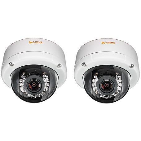 Lupus IP-Kamera 2er SET LE971 HD Domekamera 2MPx