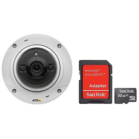 Domekamera Set Axis M3024-LVE mit 32GB SD-Karte