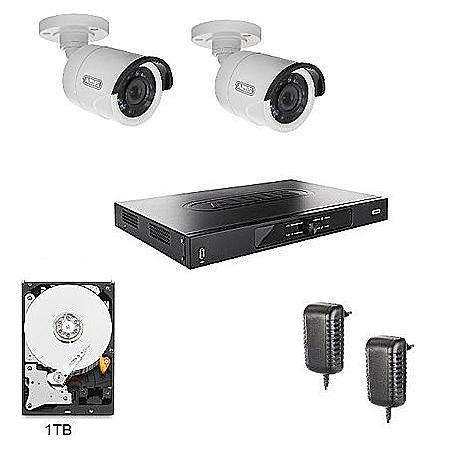 abus hd berwachungssystem 2x kameras rekorder expert. Black Bedroom Furniture Sets. Home Design Ideas