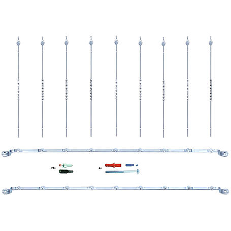 Secofix Fenstergitter Set6 1330mm 9xStäbe á 1m