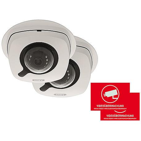 ABUS 2er IP-Kamera Set IPCB42501 1080p + Aufkleber