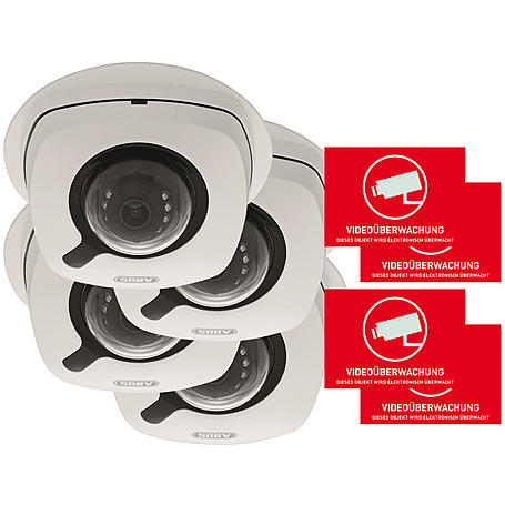 Abus 4er IP-Kamera Set IPCB42550 1080p + Aufkleber