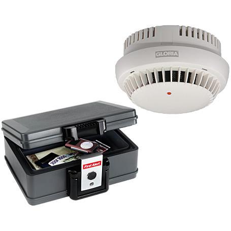 GLORIA 10x Rauchmelder RWM-10 + 1x Dokumentenbox
