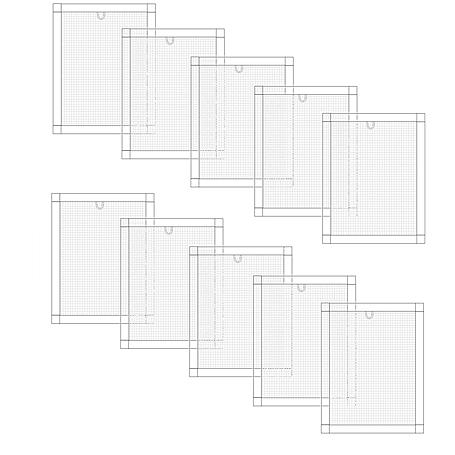 Alu-Fliegengitter Basic 130x150cm weiß - 10er Set