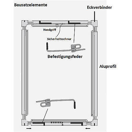 Alu-Fliegengitter Basic 120x140cm weiß - 3er Set