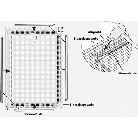Alu-Fliegengitter Basic 120x140cm weiß - 6er Set
