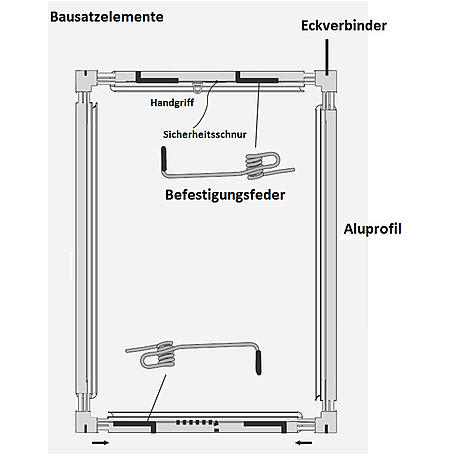 Alu-Fliegengitter Basic 120x140cm weiß - 10er Set