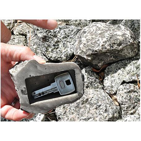 Stein mit Geheimfach für Schlüssel - 3er Set