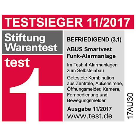3er Set Abus Smartvest Bewegungsmelder FUBW35000A