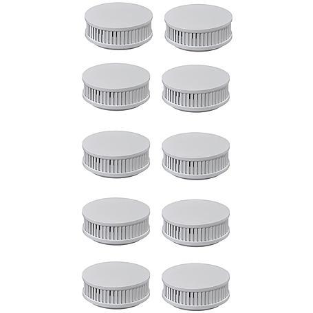 10er Pyrexx PX-1 V3-Q Rauchmelder + Klebepad weiß