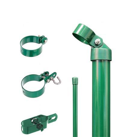 Zaunanschluss-Set 2S, grün, zE Ø60 800 mm f. Tor