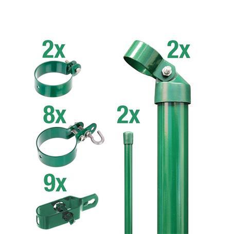 Zaunanschluss-Set 2S, grün, zE Ø60 2000 mm f. Tor